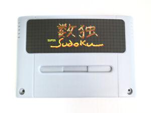 Homebrew SNES game: Super Sudoku for (PAL/NTSC). Supports the NTT Data Keypad!