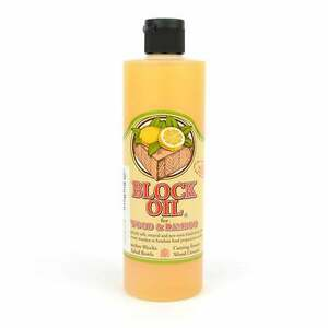 12 Oz Block Oil Prevents Crackingdrying Natural Wood Or Bamboo