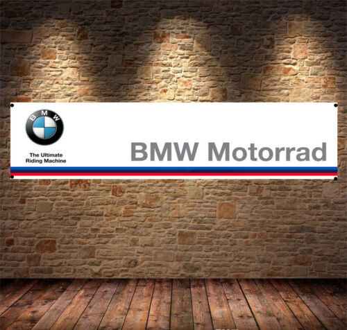 Workshop office pit lane mancave bmw motorrad riding Garage Banner PVC Sign