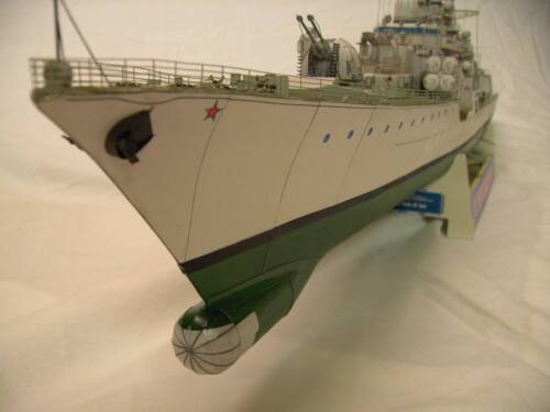 Russia Sovremenny-class destroyer carrier Ship paper Model Do It Yourself DIY