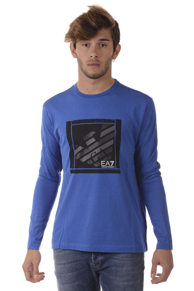 Emporio Armani EA7 T Shirt Sweatshirt Man Blau 6YPT99PJ30Z 1598 Sz. S PUT OFFER