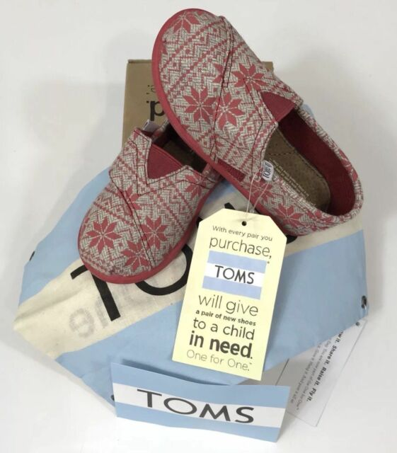 909b98a759e tiny toms classic red snowflake christmas toddler sz 8 new w box and carry  bag