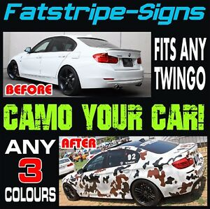 Details about RENAULT TWINGO CAMO GRAPHICS STRIPES STICKERS DECALS SPORT RS  TURBO MK2 MK3 133