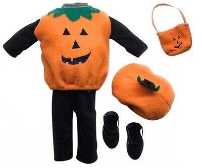 6 Piece Halloween Dress Up Pumpkin Costume Newberry 18 Inch Doll Clothes