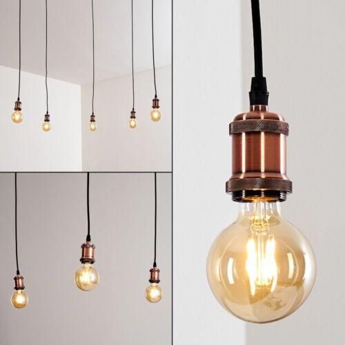 Ess Wohn Schlaf Zimmer Beleuchtung Pendel Lampen Kupfer//Schwarz Hänge Leuchten