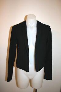 SPORTMAX-black-crop-blazer-jacket-size-6-8-499-NEW
