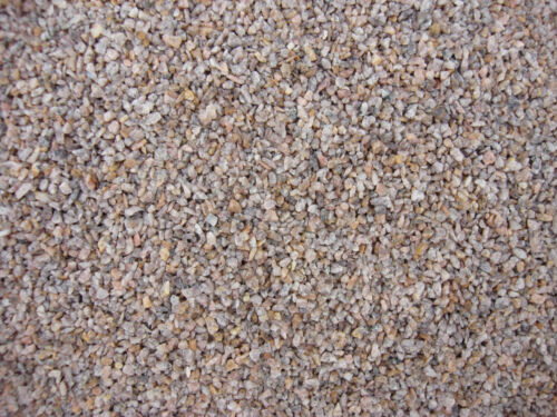 GLEISSCHOTTER aus Granit  2,5 KG 1,0-2,0mm SPUR 0 BEIGE bis RÖTLICH//BRAUN
