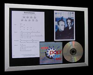 ERASURE-Sometimes-LTD-TOP-QUALITY-MUSIC-CD-FRAMED-DISPLAY-EXPRESS-GLOBAL-SHIP