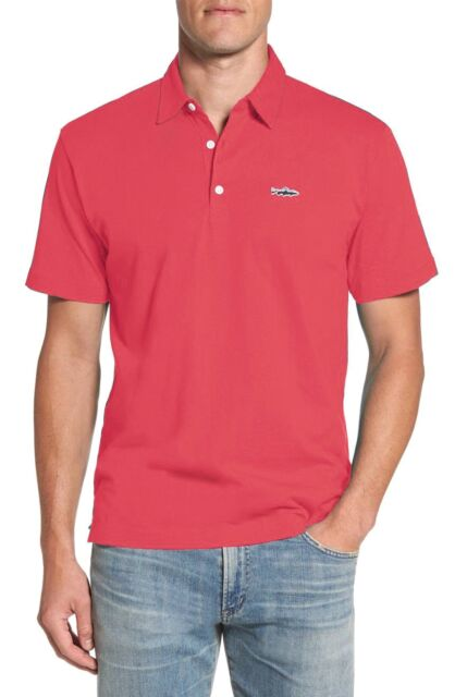 2e6b4731 Patagonia Mens Trout Fitz Roy Polo Shirt 52206 Shock Pink Size Extra Large