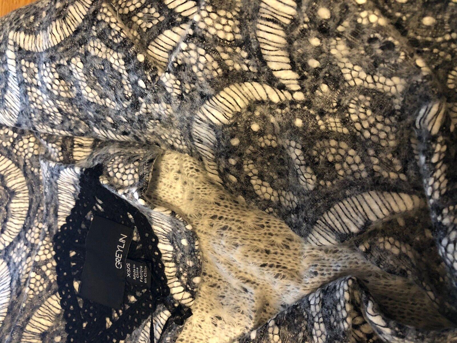 NIP Anthropologie Graphite Graphite Graphite Lace Car Coat by Greylin, SZ XS S, Grey, Was  168 02260f