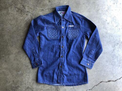 Vintage John Lester London Denim Shirt sz Medium
