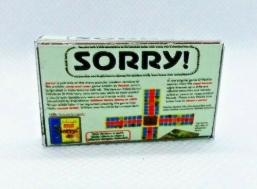 Miniature 1:12 scale classic SORRY Board Game Dollhouse prop EMPTY TOY BOX