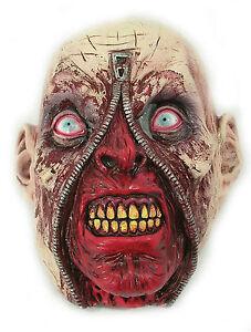 Zipper Face Rotting Zombie Head Latex Halloween Horror Costume Mask