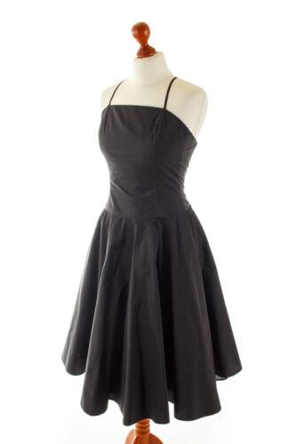 tafetán en de Marie cóctel noche Vestido vintage noche negro de de elegante Lund Vestido 36 Vestido x6gCfnq