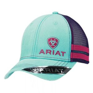Image is loading Ariat-Womens-Baseball-Hat-Cap-Snapback-Turquoise-Pink- 80796aae0f11