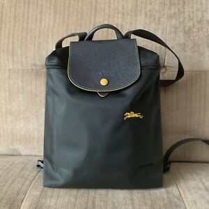 Details about Longchamp Le Pliage CLUB GUNMETAL GREY Nylon Backpack  Adjustable Straps