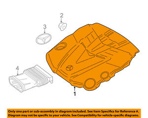Details about MERCEDES OEM 12-14 ML350 3.0L-V6 Engine Appearance Cover-Engine on