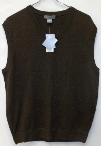 Daniel Cremieux Signature Collection Suéter Chaleco 100/% Supima algodón Pima 65 Nuevo con etiquetas