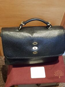 bef6d7d8d8a0 Image is loading MULBERRY-BRYN-SHINY-GRAIN-BLACK-BAG-Excellent-Condition-