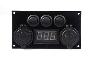 12v-Campervan-Switch-Panel-VW-Lights-Voltmeter-USB