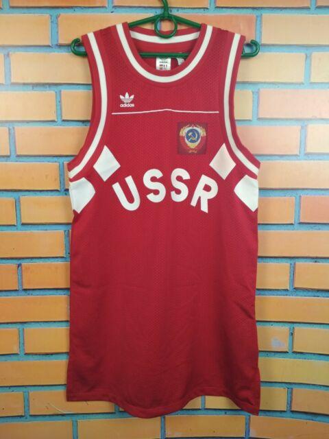 Russia USSR Jersey Basketball Shirt Red Football Soccer adidas ...