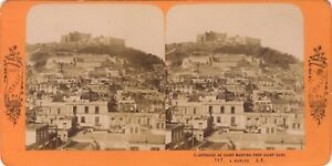 Napoli Italia Foto J.Andrieu Stereo Vintage Albumina Ca 1865