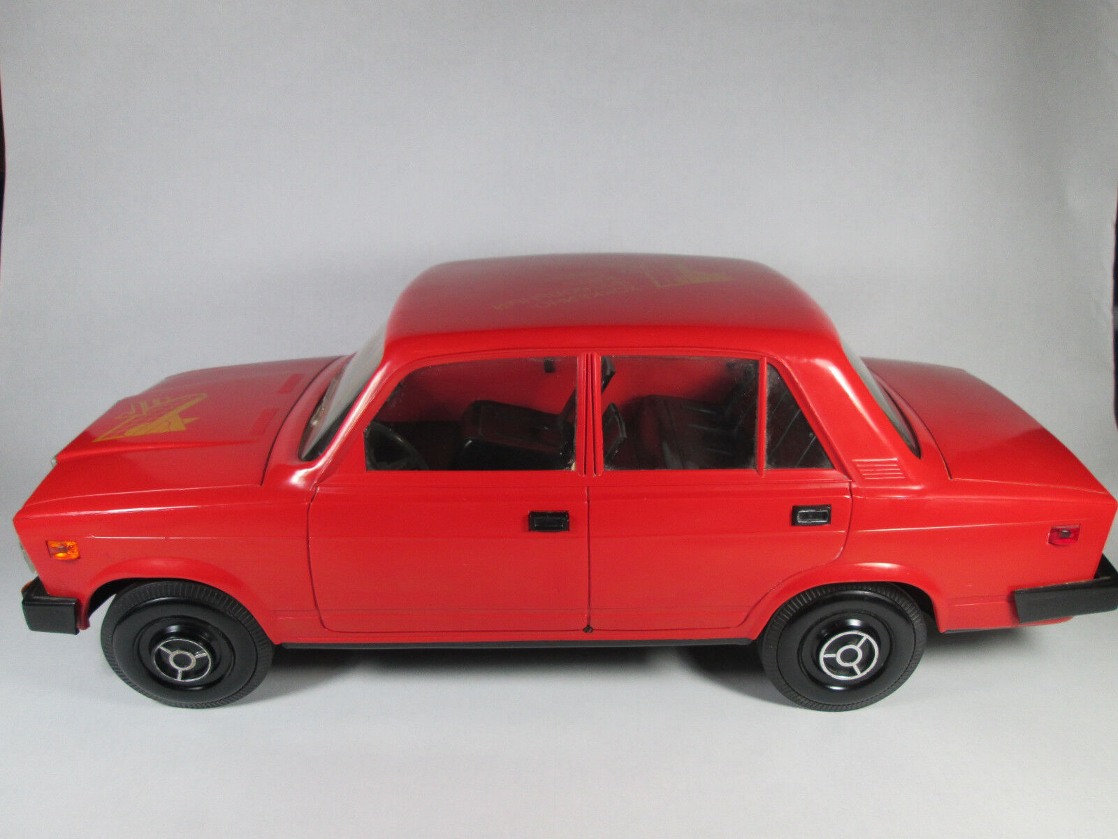 Lada Vaz OLD USSR USSR USSR Vaz 2107 vintage plastic Big car toy M 1 8 large soviet union 436941