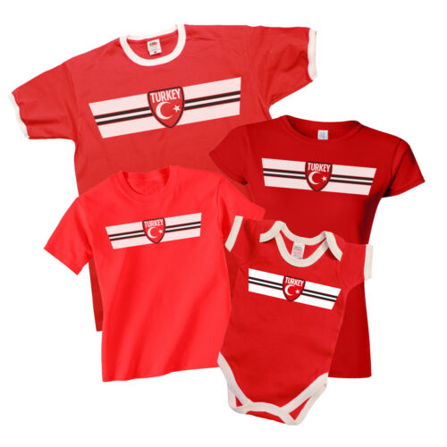 TURKEY Patriotic Fan Kit T-Shirt *Choice Of MENS LADIES KIDS BABY GROW*