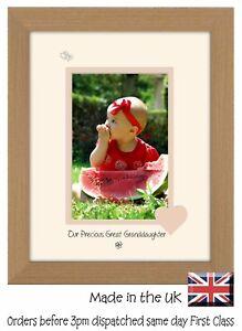 Grande Petite-fille Cadre Photo Portrait Nos Précieux Grande Petite Fille 1044 F-afficher Le Titre D'origine Nourrir Les Reins Soulager Le Rhumatisme