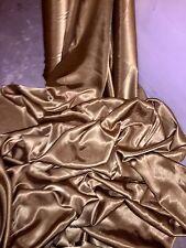 """3 M Oro Antico FODERA crepe di nuovo tessuto satinato... 58"""" Wide (nuovo in magazzino)"""