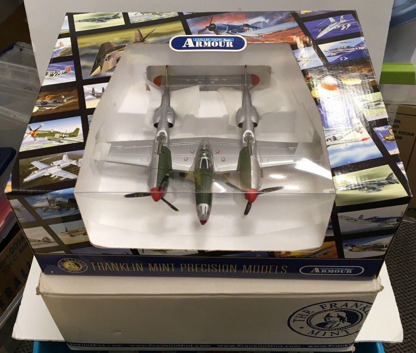NEW STILL STILL STILL IN BOX FRANKLIN MINT P-38 DIE CAST MODEL AIRPLANE B11 B280 90689a