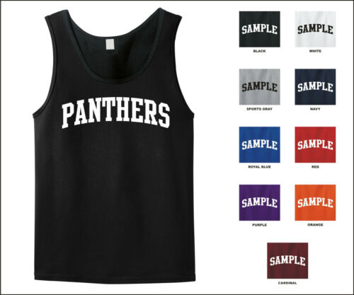 Panthers College Letter Tank Top Jersey T-shirt