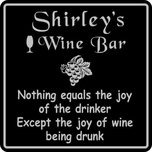 Wine Sign Plaque Gift Bar Pub Personalized Custom Wall Decor Wine Tasting  #5