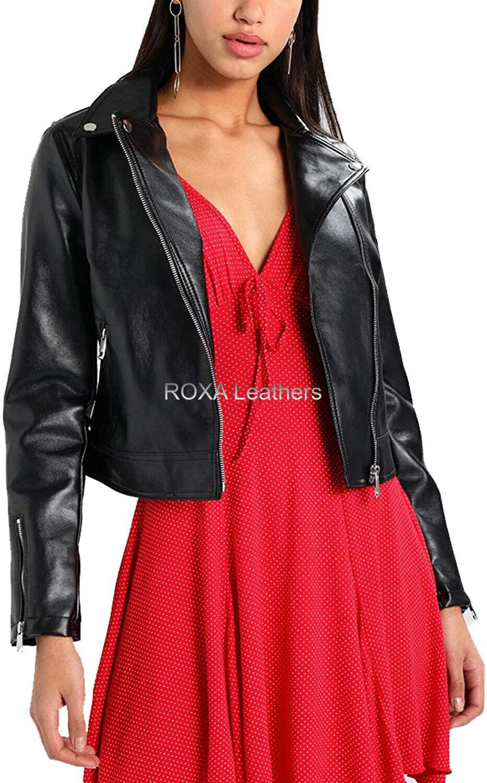 ROXA Women Casual Party Wear Genuine NAPA 100% Leather Jacket Stylish Urban Coat