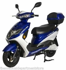 Cabo Cruiser Elite X-Treme Electric Bicycle 600 Watt 48 V Moped Scooter Blue