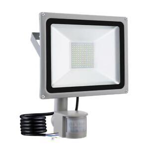 100W-LED-Fluter-Flutlicht-Strahler-Aussenleuchte-Mit-Bewegungsmelder-Kaltweiss-DHL