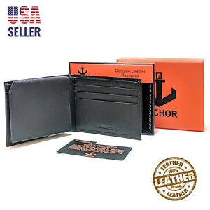 Anchor21-Mens-Wallet-Bifold-Passcase-RFID-Blocking-ID-Window-Credit-Card-Holder