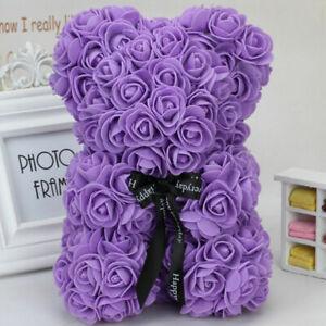 25cm-40cm-Rose-Teddy-Bear-w-Heart-Flower-Gift-For-Girlfriend-Birthday-Wedding-CY