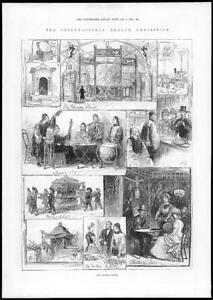 1884-Antique-Print-LONDON-International-Health-Exhibition-Chinese-106