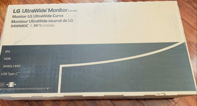 New Sealed LG 34WN80C-B 34 inch 21:9 Curved UltraWide WQHD IPS Fast Shipping!!