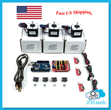 CNC Kit w/Controller Shield Stepper Motors DRV8825 Endstop GRBL for Arduino UNO