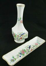 Aynsley Pembroke Bud Vase & Oblong Mint / Olive / Cracker Tray Dish