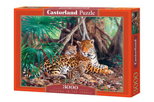 "Castorland Puzzle 3000 Pieces JAGUARS IN THE 92x68cm 36""x27"" Sealed box C-300280"