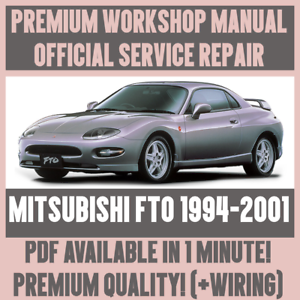 workshop manual service repair guide for mitsubishi fto 1994 2001 rh ebay ie