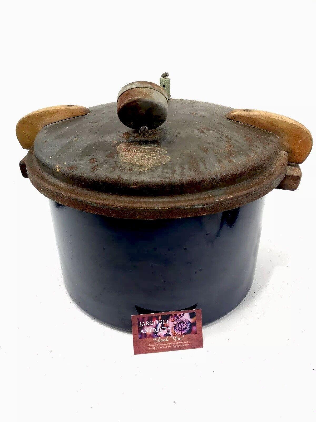 Vintage 1942 bleu porcelaine Enamel National Victory Autocuiseur CANNER ARMCO