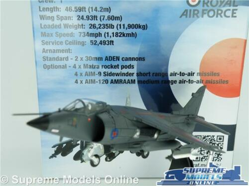 Mar BAE Harrier Frs avión aeronave modelo 1:72 Talla 1982 Royal Air Force MK1 T