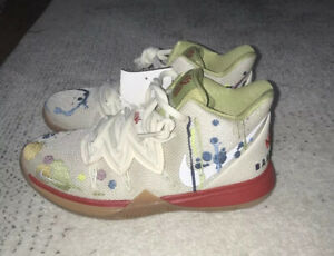 Nike-Kyrie-5-Bandulu-Pale-Ivory-Red-Gum-Basketball-Size-4-5y-Women-s-Size-6-New