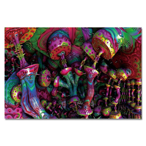 G150 Psychedelic Trippy Mushroom Art Poster Silk Cloth Print 14x21 20x30/'/'