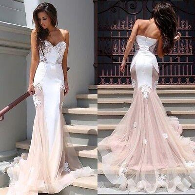 2016 Sexy Women Formal Prom Party Wedding Bridesmaid Evening Long Maxi Dress