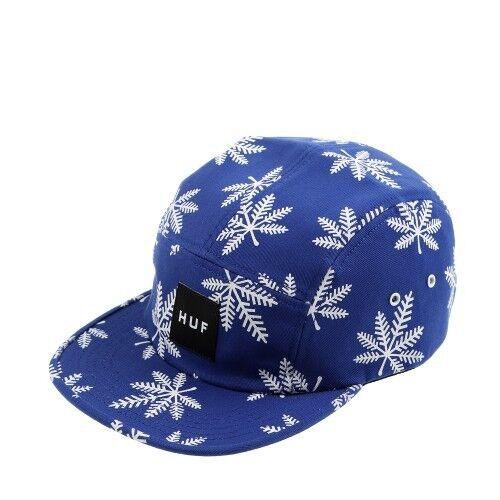 Huf SNOWLIFE VOLLEY Royal Blue White 5 Panel Cap Adjustable Men/'s Hat